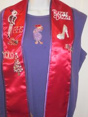 Reversible Red and Purple Stole / Sash