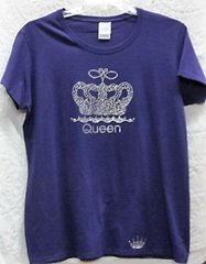 Rhinestone Crown Purple T-shirt for a Queen