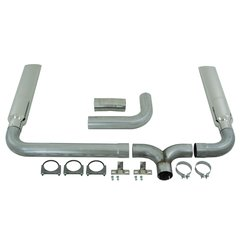 """MBRP Installers Series 4"""" Cat Back Dual Stack Exhaust System"""