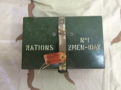 British army ration tin. post war  52 dated