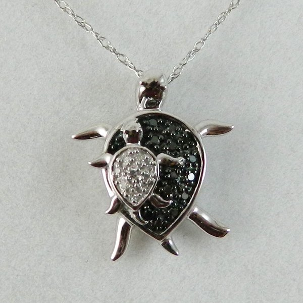 10k white gold sea turtle pendant michaels jewelry inc 10k white gold sea turtle pendant aloadofball Image collections