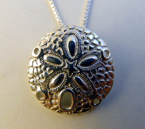 Sterling silver sand dollar pendant michaels jewelry inc sterling silver sand dollar pendant aloadofball Image collections