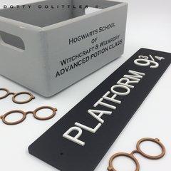 Harry Potter Wooden Platform 9 3/4 Sign