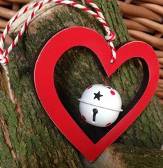 Heart & Bell Christmas Tree Decoration