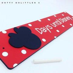 'Days until Disney' Wooden Sign