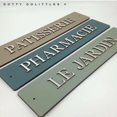 Wooden 'French Style' Signs