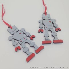 Robot Christmas Tree Decorations