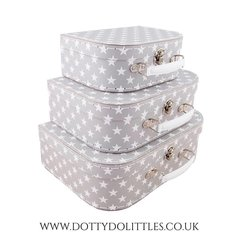 Grey Star Mini Suitcases (Set of 3)