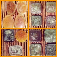 H2BN Organic Irish Moss Activated Charcoal & Moringa Soaps