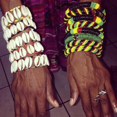 H2BN Yamassee Cowrie Shell Beaded Bracelts