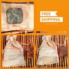 H2BN Yamassee Burlap Soap Bag & Wash Cloth