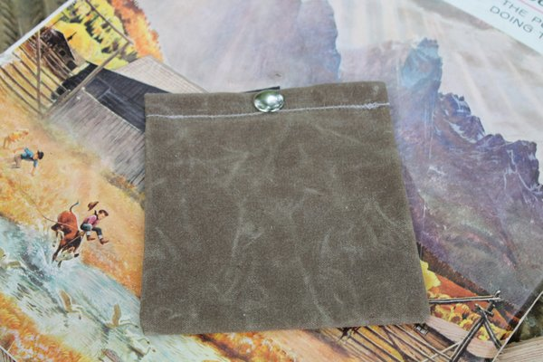 PNW Bushcraft Handmade Waxed Canvas Ditty Bag with Snap