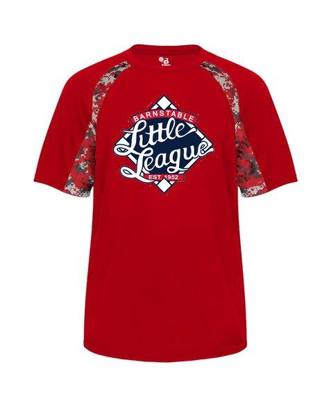Barnstable Little League Workout Digi-camo T-Shirt