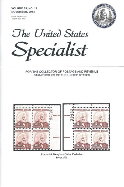 The United States Specialist Journal Of Stamp Society Vol 85 11 November 2014