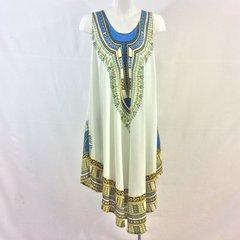 Sleeveless African Print Dashiki Dress