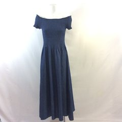Off-Shoulder Chambray Dress