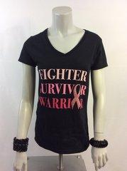 V Neck Breast Cancer T-Shirts