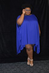 Royal Blue Batwing Top