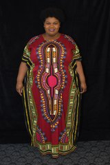 Dashiki Dress - Elastic Waist