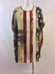 Dolan Sleeve Mini Flag Dress