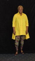 Asymmetric Blouse - Yellow