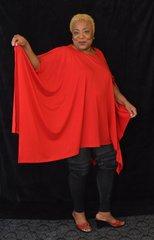 Boat Neck Batwing Top