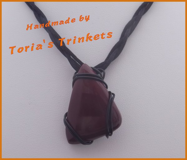Red bloodstone pendant and necklace torias trinkets bespoke red bloodstone pendant and necklace mozeypictures Images
