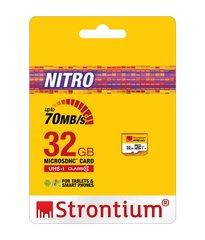 Strontium Nitro 32GB 70Mb/s Class 10 Micro SD Memory Card