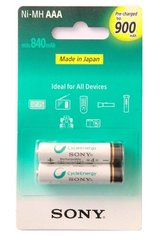 Sony AAA Cycle Energy 900 mAh Rechargeable Batteries