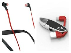 Jabra Halo Smart Bluetooth Headset (Red) with Rce-Surge USB Data Cable (Red) Worth Rs 599/- FREE