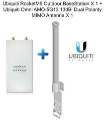 Ubiquiti RocketM5 Outdoor BaseStation X 1 Omni AMO-5G13 13dBi Dual Antenna X 1