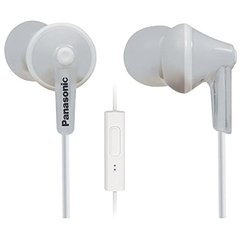 Panasonic RP-TCM125-W Wired Headset With Mic (White)