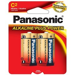 Panasonic Alkaline ''C'' Size LR14 Pack of 2 Cells