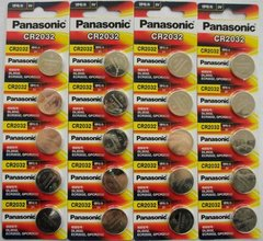 Panasonic CR2032 3V Lithium Coin Cell Battery (Pack of 20 Pcs)