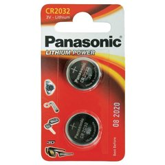 Cr2032 Battery (2 Pack) - Panasonic, Lithium Coin Cell, 3V NON RECHARGEABLE