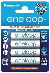 Panasonic BK-3MCCE/4BN 2000mah eneloop AA 2100 Times Rechargeable Ni-MH Pre-Charged Rechargeable Batteries, 4 Pack