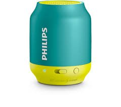 Philips BT50A/00 Portable Bluetooth Mobile/Tablet Speaker (Green Yellow)