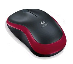 Logitech M185 Wireless Mouse (Red)