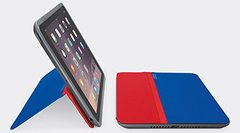 Logitech AnyAngle Protective Case with Stand For Apple iPad Air 2 (Red/Blue)