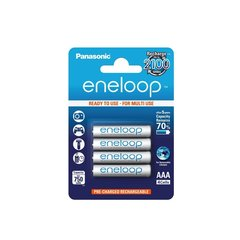 Panasonic eneloop 2100 times rechargeable 4×AAA 800mAh Ready to use for Multi use Ni-MH Rechargeable Batteries
