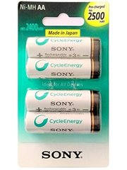 Sony AA 2500 mAh Rechargeable Battery (Pre-Charged)