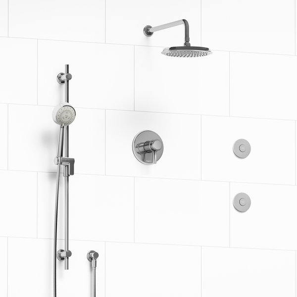Riobel Momenti Shower System With Body Jets | CORNERSTONE BATH & MORE