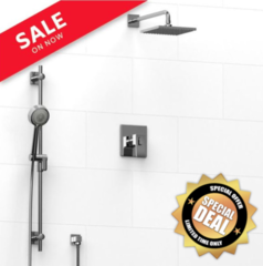 RIOBEL Zendo KIT#323 Thermostatic Pressure balance with hand & rain shower