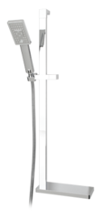 YUMA Sliding shower bar with three jets hand shower. Chrome