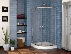 Wedge Corner Shower - Fleurco Signature ALINA SEMI FRAMELESS