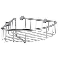 Wire Corner Basket With Wash Cloth Post