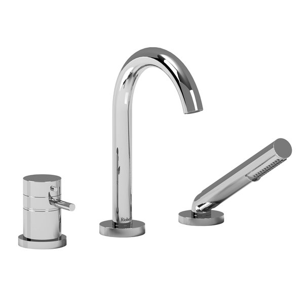 Riobel Bathroom Faucet RIU 3 Piece Deck Mount Tub Filler RU19 ...