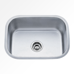 "24"" Sink and faucet with pull-out spray"