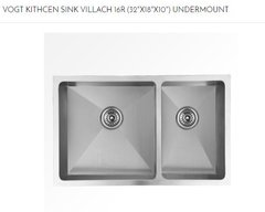 "VOGT - VILLACH Under-Mount Kitchen Sink 16R (32""X18""X10"") (103218V) (P33)"