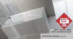 """Bath Tub - Sherlic Quad 2 sided 60""""X32"""", COMES IN 4 MODELS"""